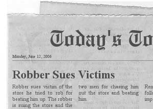 Victim sued by robber