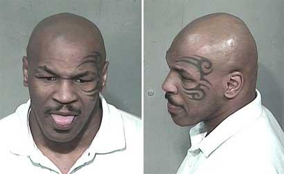 Mike Tyson's mugshot