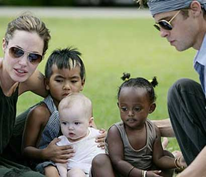 Jolie-Pitt family picture