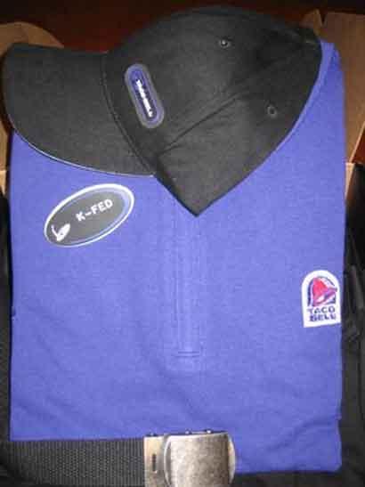 Kevin Federline's Taco Bell uniform