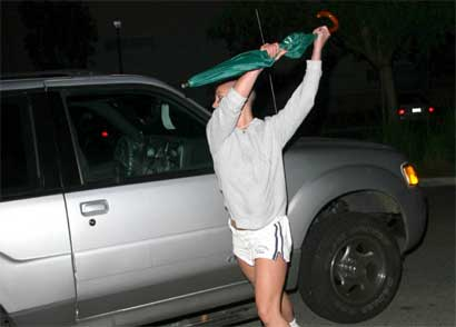 Britney Spears attacking SUV