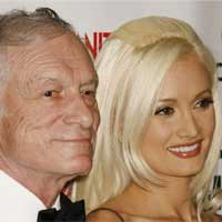 Hugh Hefner and Holly Madison