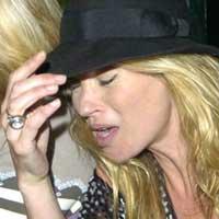 Kate Moss in tears