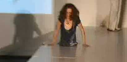 Model falling into a hole