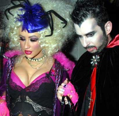 Christina Aguilera with Jordan Bratman