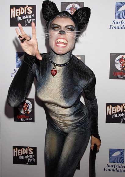 Heidi Klum cat costume