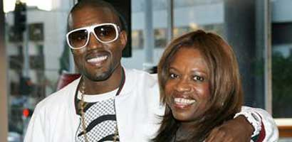 Kanye West with mother Donda West